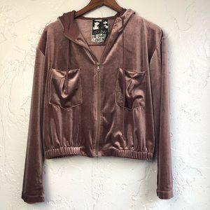 Young Fabulous & Broke Fritzy Velour Hoodie S